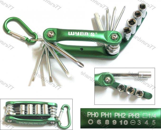 12in1 Foldable Pocket Size Socket & Screwdriver Bits Set (W0568)