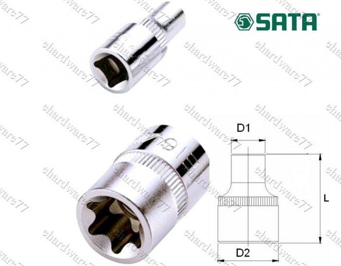 """SATA 3/8"""" DR E-Torx Socket E4 (12701)"""