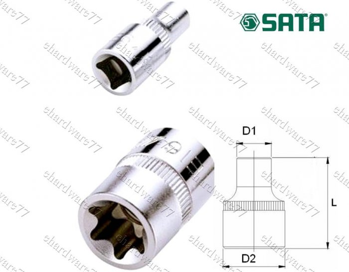 """SATA 3/8"""" DR E-Torx Socket E8 (12705)"""