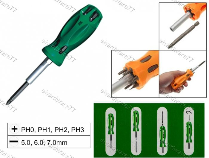 7in1 Changeable Screwdriver Set (W2089A)