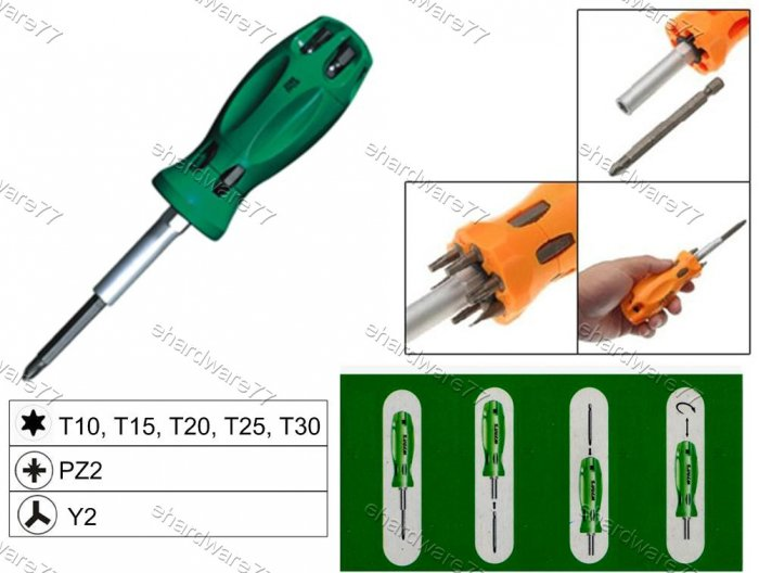 7in1 Changeable Screwdriver Set (W2089C)