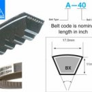 Mitsuboshi Raw Edge Cogged V-Belt BX104