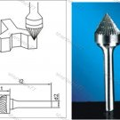 Tungsten Carbide Burr Countersink 60Degree 12d1X10l1X6d2(mm)