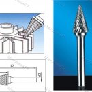 Tungsten Carbide Burr Cone 12d1X25l1X6d2(mm)