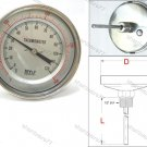 Bimetal Thermometer Back 0°C to +120°C (BT1244)