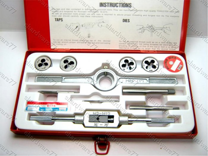 SKC - 10PC BSW Tap & Die Set