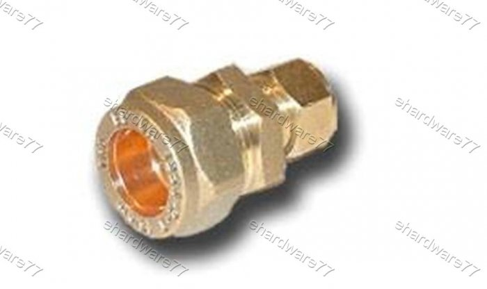 Plumbing Copper Pipe Fitting - Reducer Coupler 15mmx22mm
