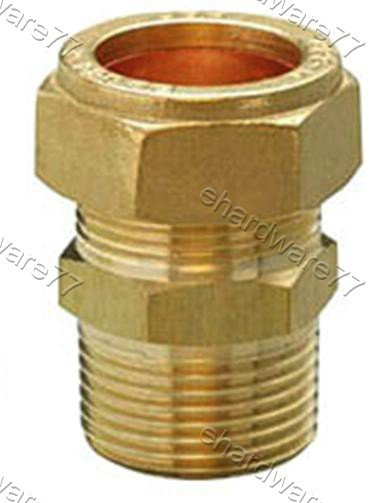 "Plumbing Copper Pipe Fitting - Male Coupler 15mm x 1/2"" BSP"