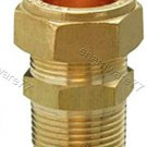 "Plumbing Copper Pipe Fitting - Male Coupler 28mm x 1"" BSP"