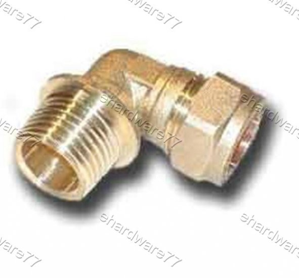 "Plumbing Copper Pipe Fitting - Male Elbow 15mm x 1/2"" BSP"
