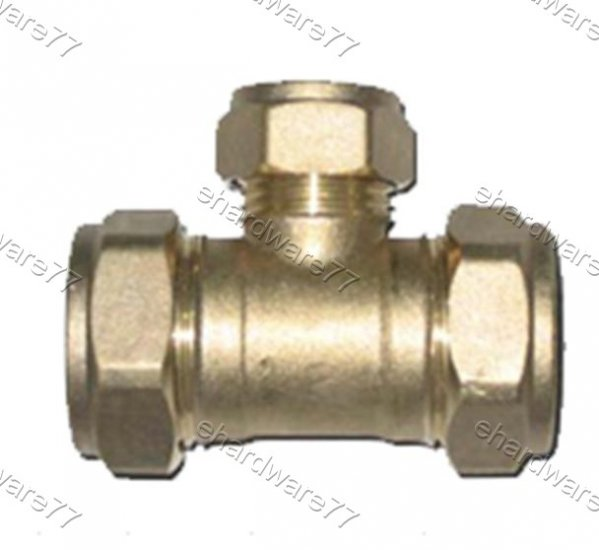 Plumbing Copper Pipe Fitting - Reducer Tee 15mmx22mm