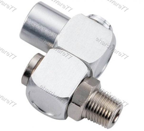 Z swivel pneumatic fitting connector