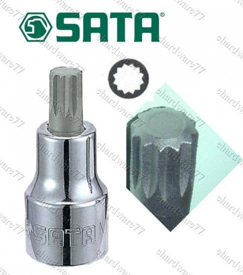 """SATA - 1/2"""" DR Triple Square Bit Socket M16x50mmL"""