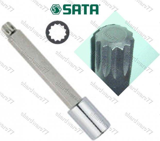 """SATA - 1/2"""" DR Triple Square Bit Socket M12x100mmL"""