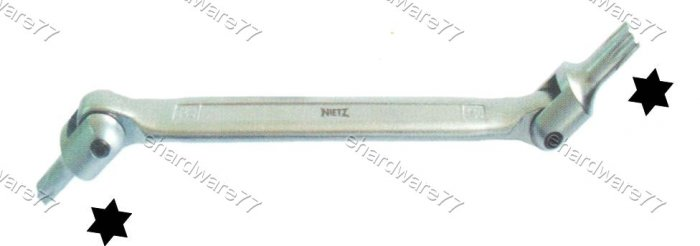 Double Swivel Head Torx Wrench T25xT27