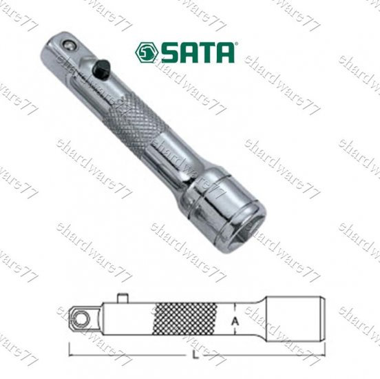 "SATA 1/2"" DR. Locking Extension Bar 5"" (13907)"