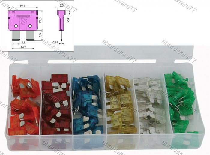 120PCS COMMON TYPE CAR FUSE BLADE KIT (2023)