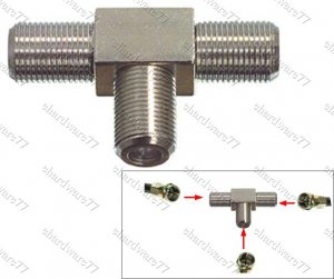 F-Plug to Tee Coupler Joiner