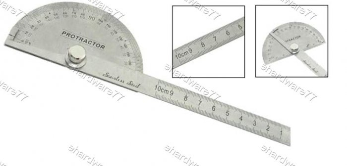 Stainless Steel Protractor Angle Gauge 10cm (6006H)