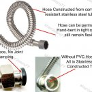 """Stainless Steel Corrugated Water Lines Flexible Hose 18"""""""