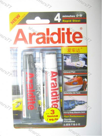 Araldite 4 minute super strong Rapid Steel Epoxy Glue (30ml) (955524209939)