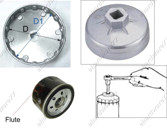 Oil Filter Cap wrench Size: 91mm P12 for Citroen,Peugeot,Renault (WH9101)
