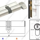 Euro Profile Turn Cylinder Lock 70mm (SGSC70SN)