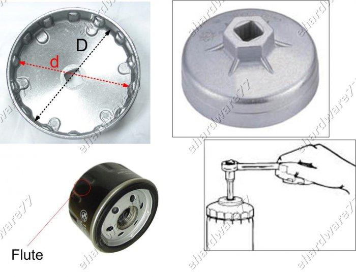 Oil Filter Cap Wrench Size 86mm P 18 For Citroen Peugeot