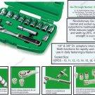 """Toptul 14Pcs 3/8"""" DR. Pass-Thru Socket Set (GCAI1401)"""