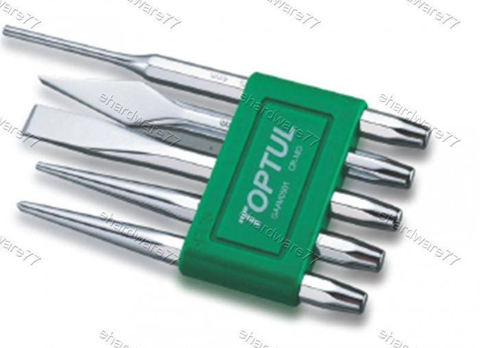 TOPTUL 5Pcs Chisel & Punch Set (GAAV0501)