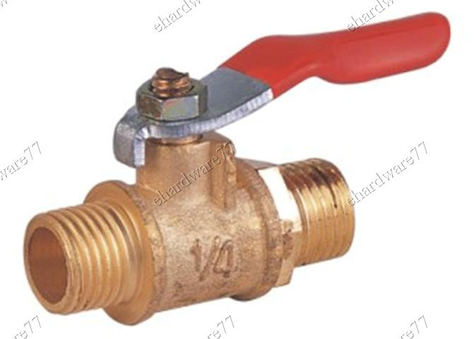 "BRASS MINI BALL VALVE 3/8""M x 3/8""M (DMM33)"