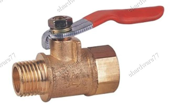 "BRASS MINI BALL VALVE 1/4""M x 1/4""F (DMF22)"