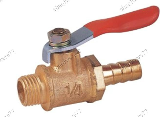 "BRASS MINI BALL VALVE 3/8""M x 5/16"" Hose Tail (DMH32)"