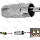 F-F-Plug to RCA Plug Adaptor