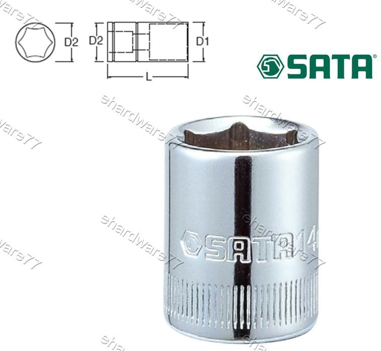 "SATA - 8.0mm (Metric) Socket 1/4"" DR."