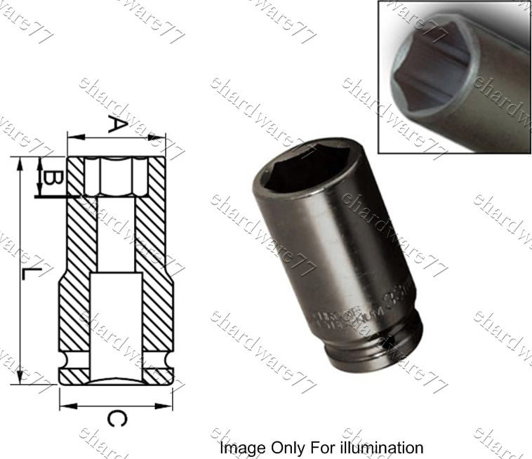 "1"" DR. 6pt Deep Impact Socket 53mm (60552053)"
