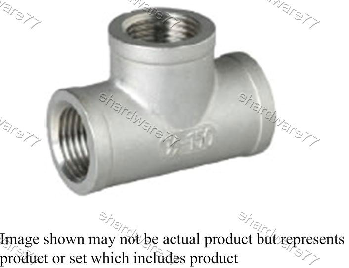 "Stainless Steel Threaded Equal Tee 3/4""F"