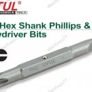 "TOPTUL 5/16"" Hex Shank Double End Phillips PH2 & Slotted 6mm Bit  (FKAB0206)"