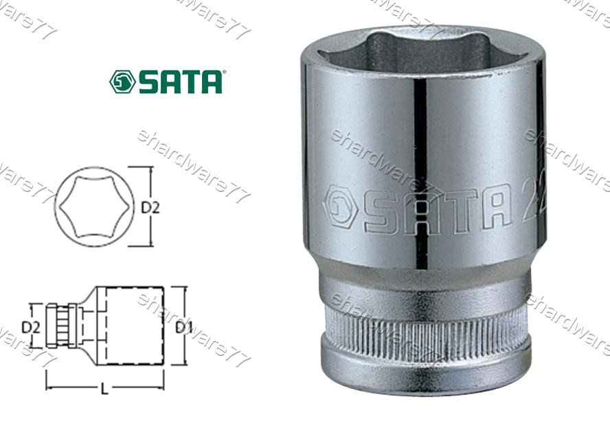 """SATA 3/8"""" DR. 6pt Socket 19mm (12314)"""