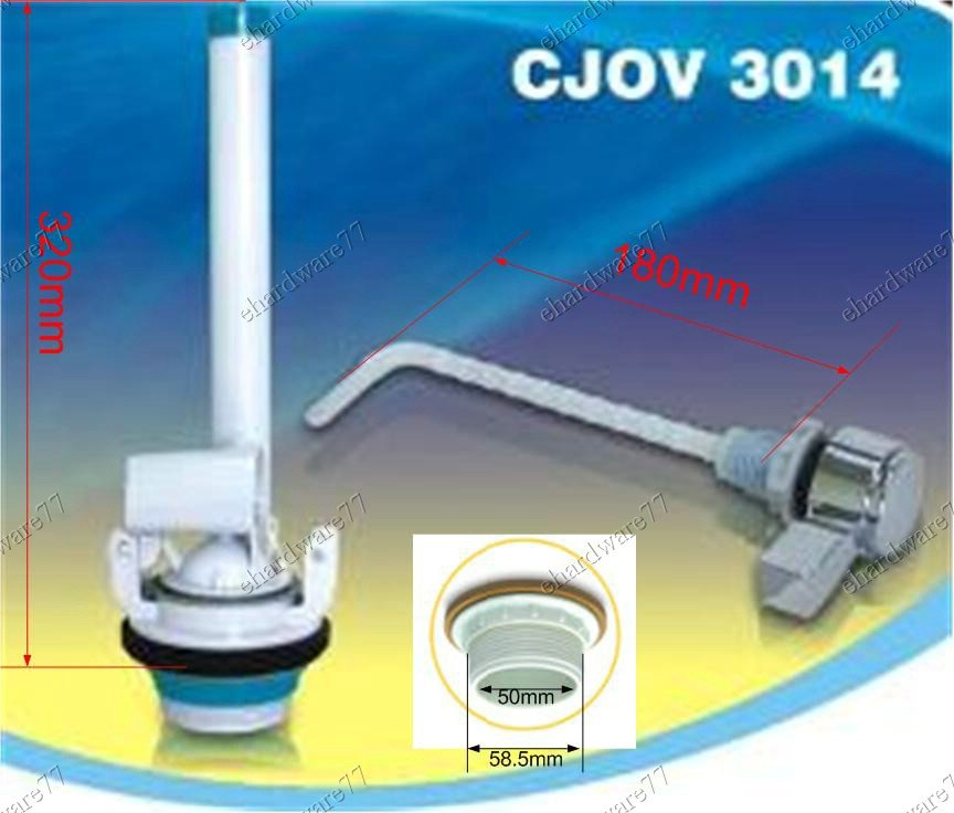 Cistern Flapper Flush Valve 50mm With Side Lever Handle (CJOV3014)
