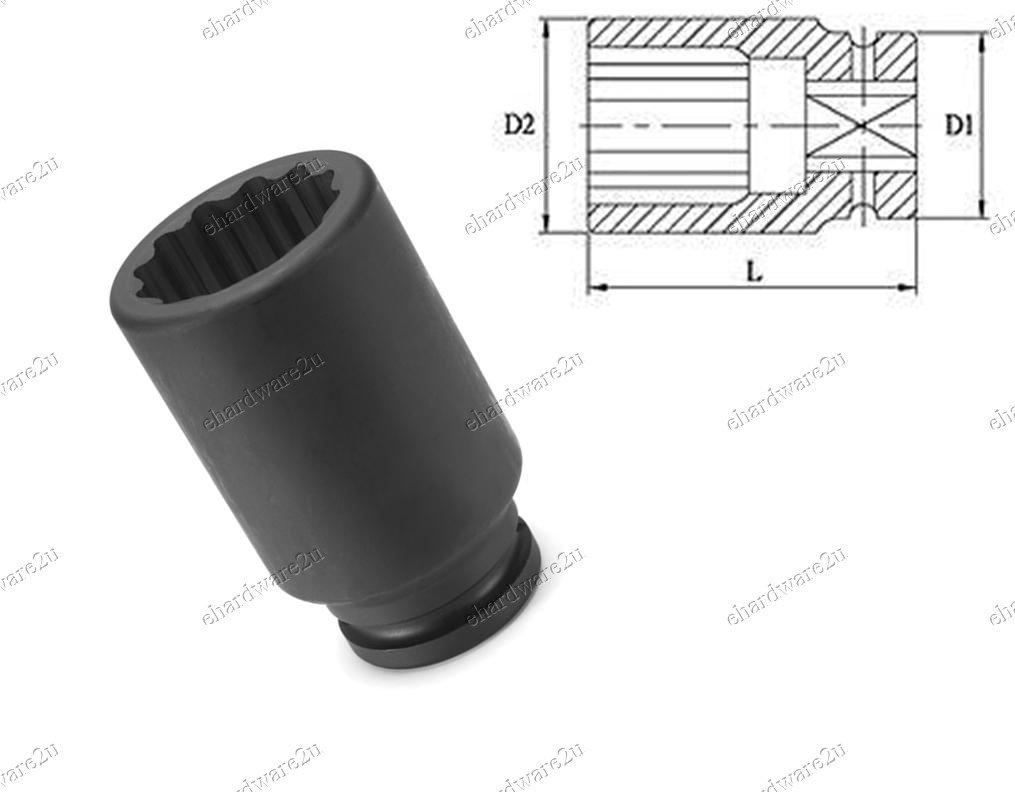 "1/2""DR 12pt Thin Wall Deep Impact Socket 32mm (KT4062-32)"