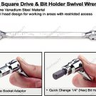 "1/4"" Square Drive & 1/4"" Bit Holder Swivel Wrench (AREA0808)"