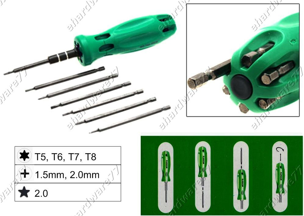 7in1 Changeable Mini Screwdriver Set (W0352C)