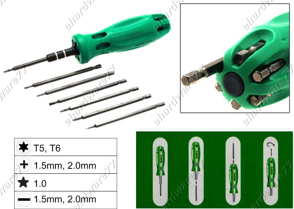 7in1 Changeable Mini Screwdriver Set (W0352D)