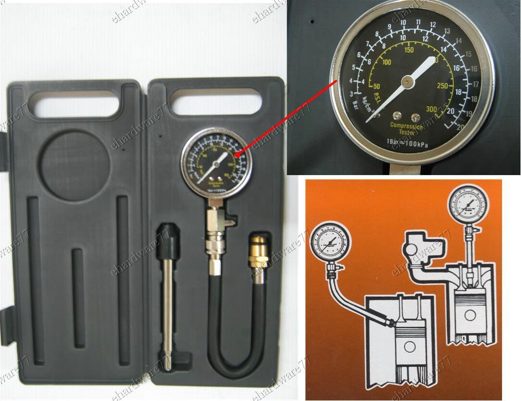 PETROL ENGINE COMPRESSION TESTER KIT (1621)