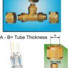"Nylon Tube Fitting - Brass Tee Joints 1/4""OD (DUTB2)"
