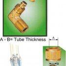"""Nylon Tube Brass Fitting 5/16""""OD Tube x 1/4"""" BSPT Male (DLB252)"""