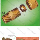 "Compression Male Connector for Copper and Brass Tubing 1/4""Hx1/2""BSP (DCM24)"