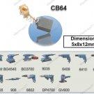 Carbon Brush Set Replacement 5x8x12mm (Makita) (CB64)