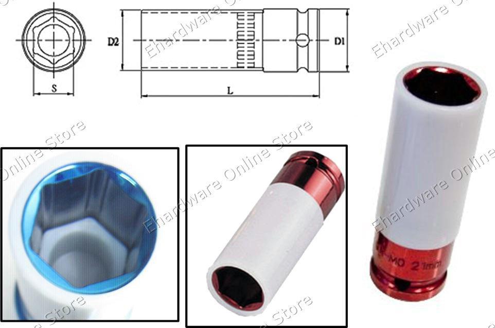 Thin Wall Wheel Nut Protector Deep Socket 21MM (330421)
